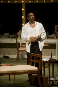 "John Douglas Thompson in the 2012 production of ""Satchmo at the Waldorf"" photo by Kevin Sprague"