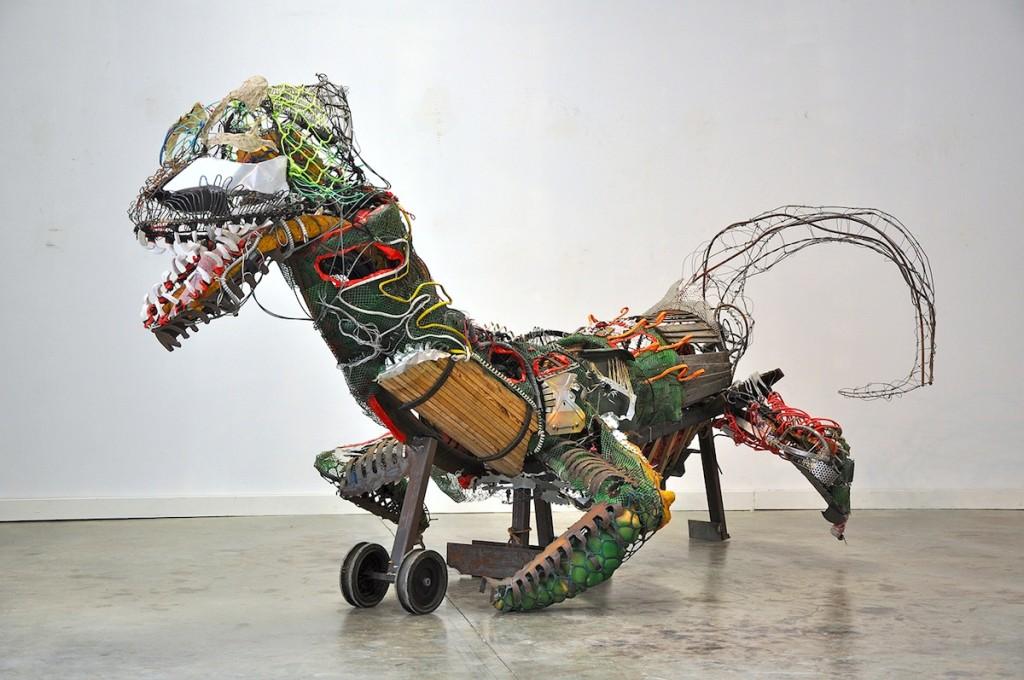 """Eli Merritt Sculpture, """"The Drake,"""" for the Ten Spot Art Show at the Lichtenstein Center for the Arts"""