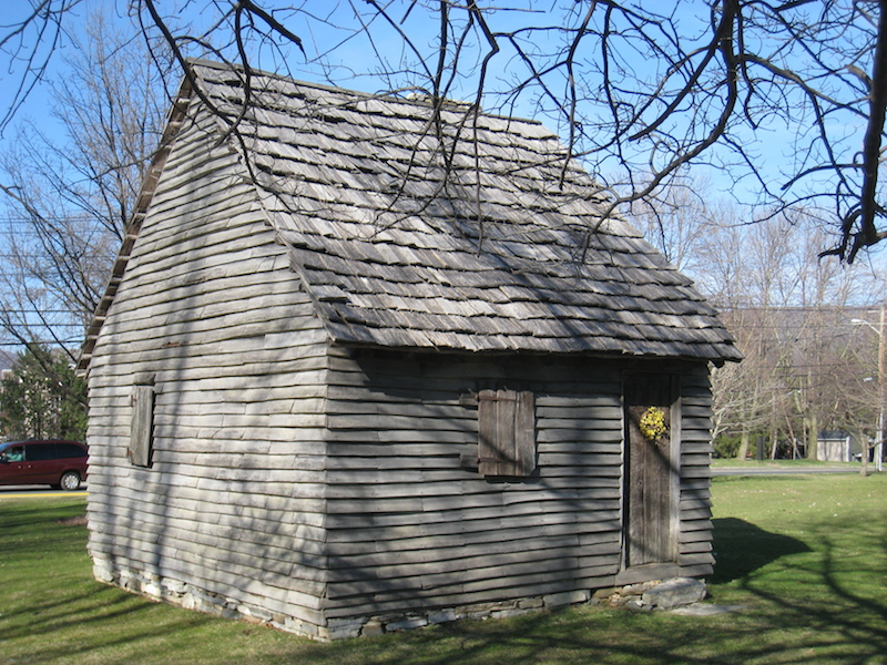"The ""1753 House"" This reconstruction demonstrates the architecture of the very first homes built in Williamstown."