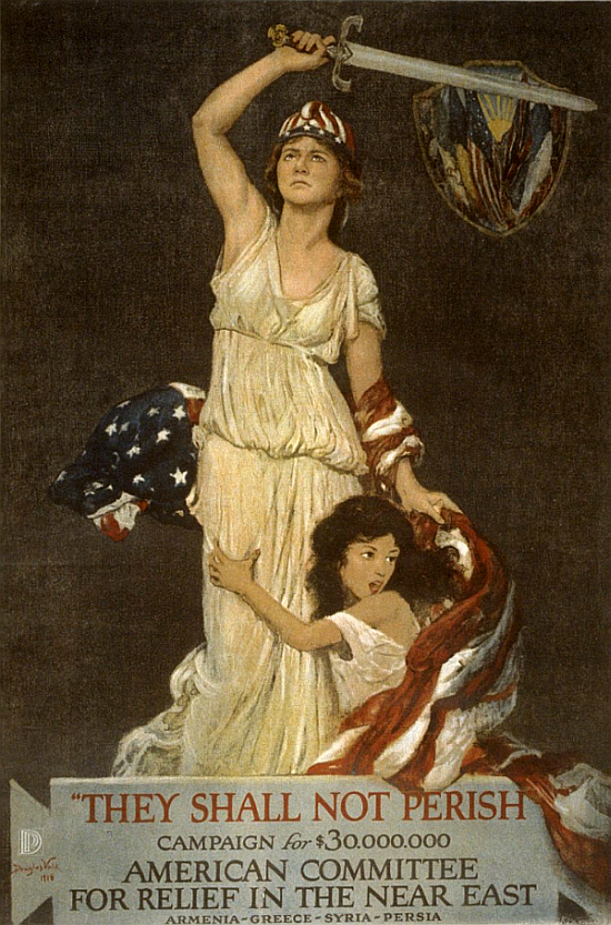 """""""They Shall Not Perish"""" : American Committee for Relief in the Near East, poster by Douglas Volk, 1918."""