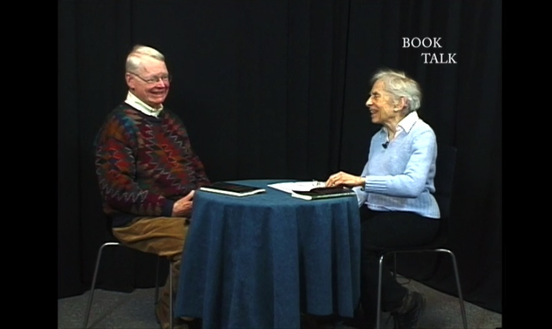 Booktalk with Tela Zasloff, with guest, author Charles Dew; photo courtesy Community Television for Williamstown
