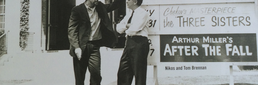 Tom Brennan and Nikos Psacharopoulos, 1960; photo courtesy Williamstown Theatre Festival