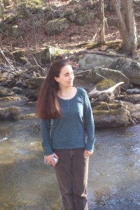Kate Abbott standing in the Oyster River, Durham N.H; Facebook photo
