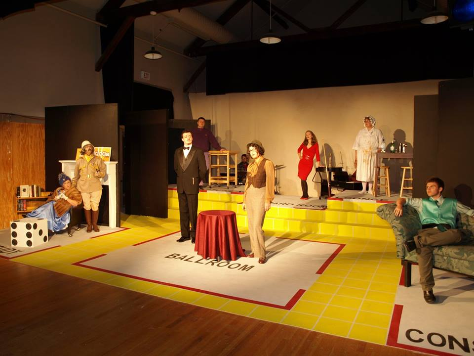 """Cast of Mill City Productions staging of """"Clue: The Musical""""; photo by Liz Urban"""