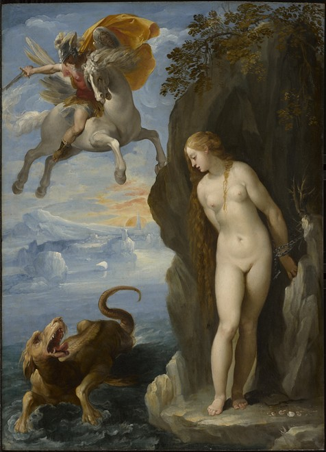 "Perseus Rescuing Andromeda,"" Cavaliere d'Arpino, 1594/95, Oil on panel; Acquired by the Clark, 2010"