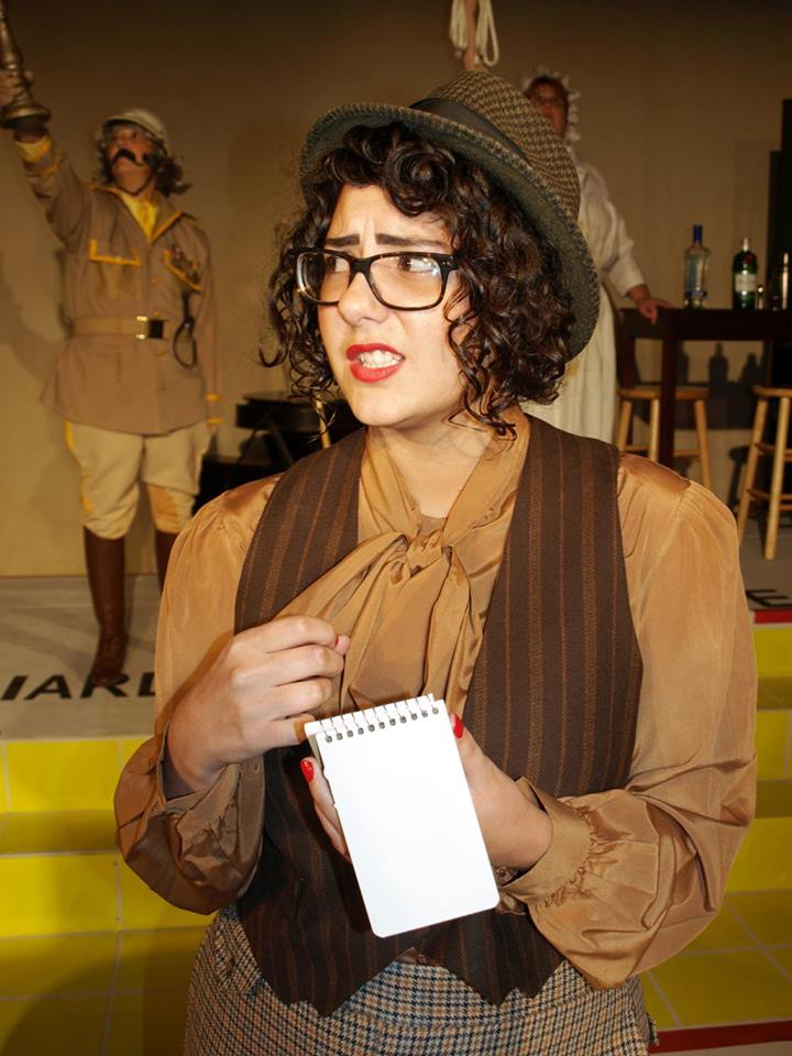 """Sam Therrien as The Detective in """"Clue: The Musical""""; photo by Liz Urban"""