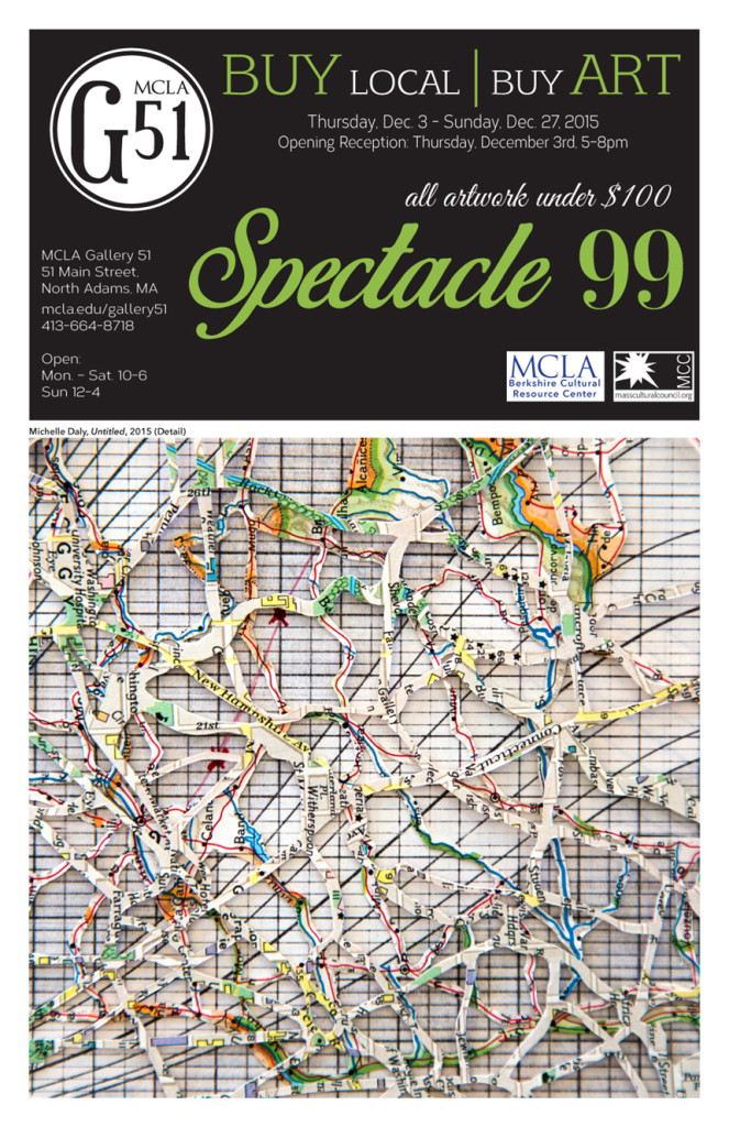 Spectacle 99: the Annual Affordable Art Show will run December 3–27, 2015; photo courtesy of MCLA Berkshire Cultural Resource Center.
