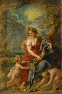 """Abundance,"" by Peter Paul Rubens; public domain."