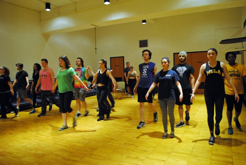 "The cast of ""Romeo and Juliet,"" by William Shakespeare, rehearsing the fateful masquerade scene; submitted photo."