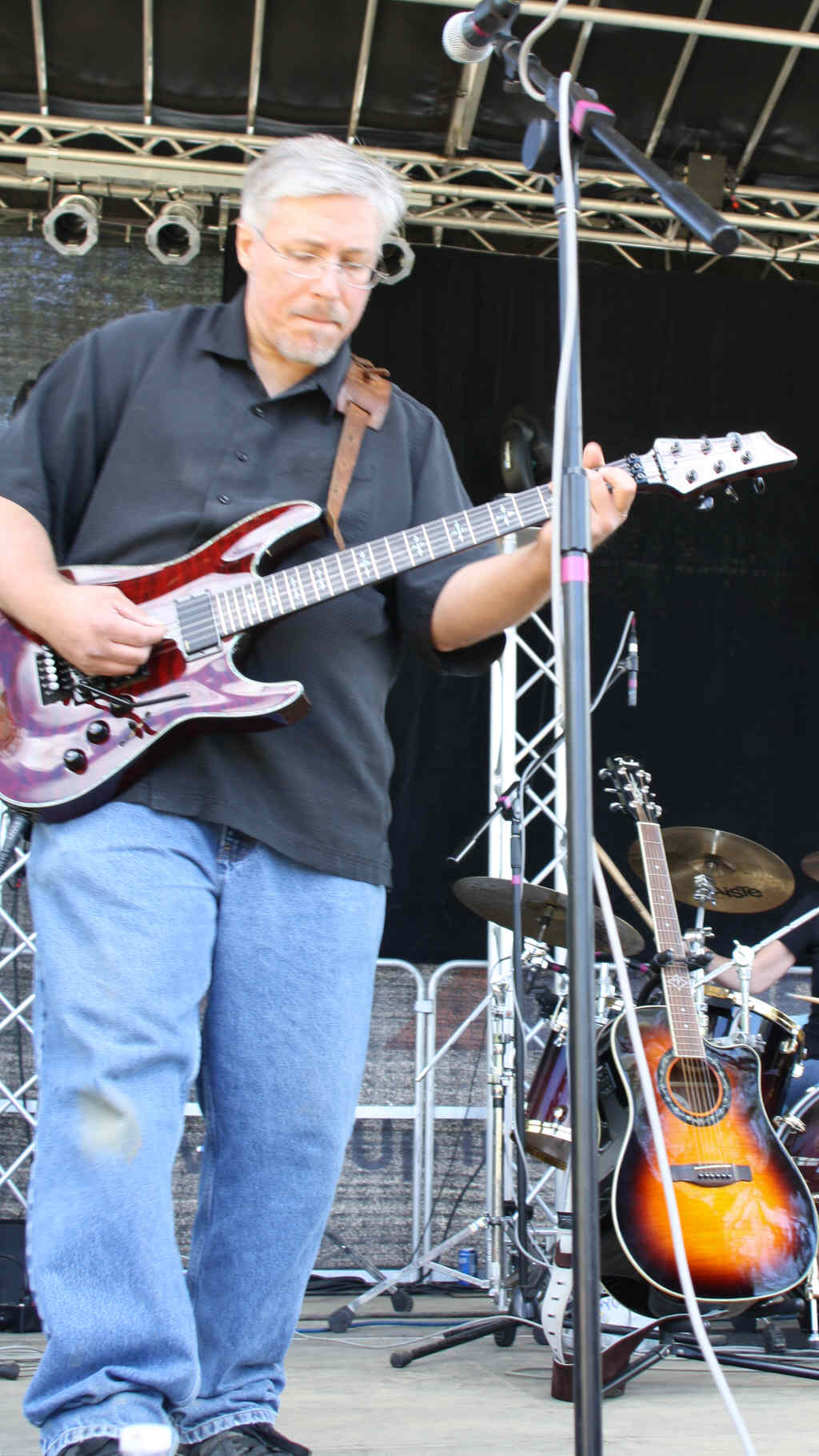 Tom Conklin, a co-founder of BOOM, local radio personality, and guitarist with The Matchstick Architects at BerkshireStock 2012 (submitted photo).
