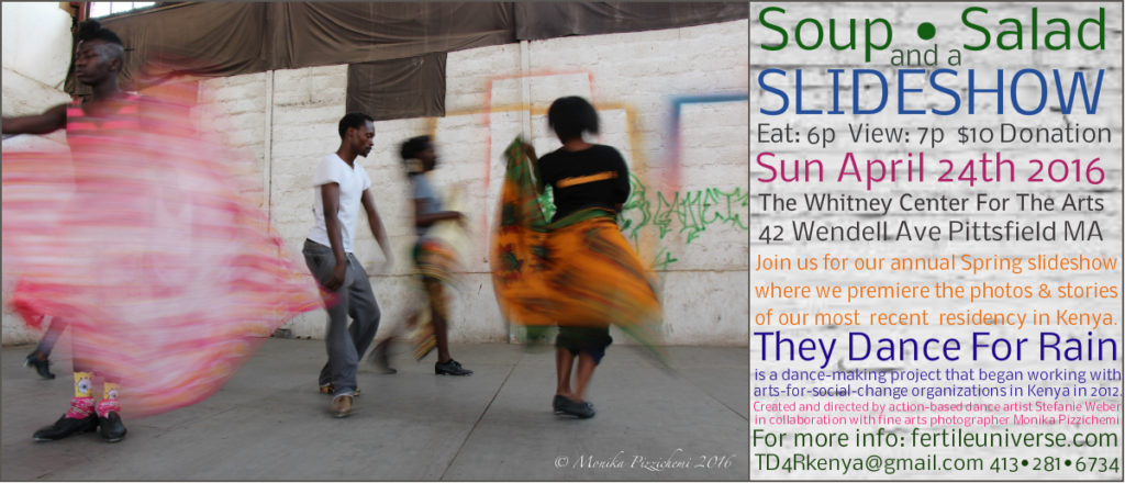 They Dance for Rain, Soup Salad, and a Slideshow on Sunday, April 24, at the Whitney Center for The Arts at 42 Wendell Avenue in Pittsfield (submitted image).