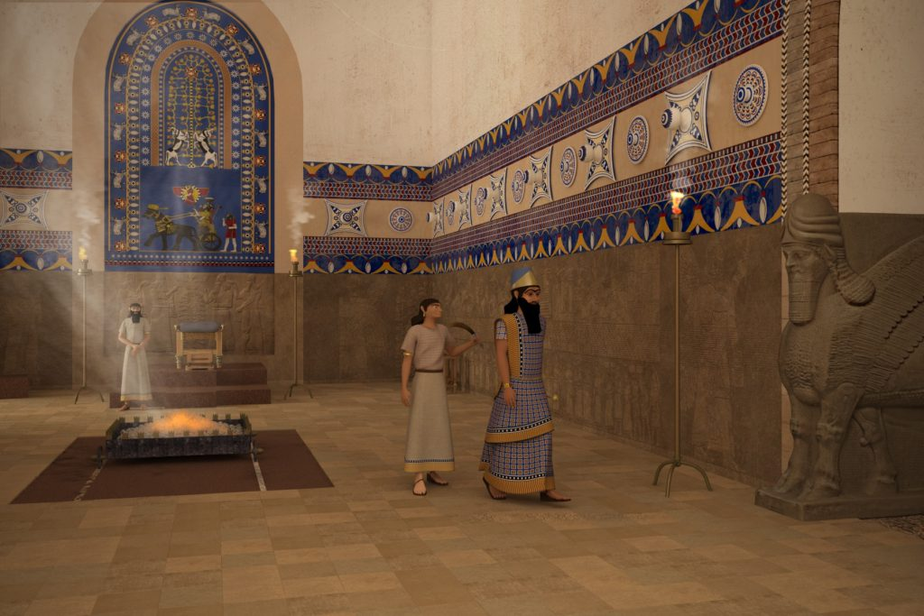 Virtual visualization of the throne room of the Palace of Nimrud (submitted photo).