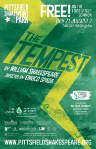 "Poster for ""The Tempest,"" 2016's presentation for Pittsfield Shakespeare in the Park"