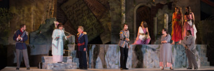 """William Shakespeare's """"The Tempest"""" will be presented on Pittsfield's First Street Common Thursday–Sunday, 8:00 p.m., July 21–August 7; photo by Enrico Spada."""