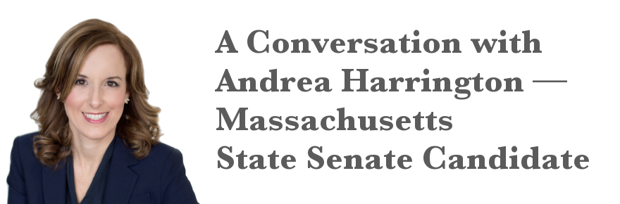 Andrea Harrington will be on the Democratic primary ballot on September 8 (campaign photo).