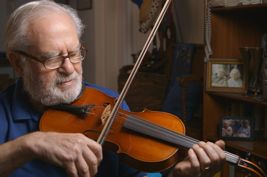 """Joe's Violin,"" directed by Kahane Cooperman and Raphaela Neihausen, with music composed by Gary Meister, earned a 2017 Academy Award nomination for Best Documentary Short Subject, will be screened by the Berkshire International Film Festival along with nine other shorts during the 10X10 Upstreet Arts Festival at the Beacon Cinema on February, 19th."