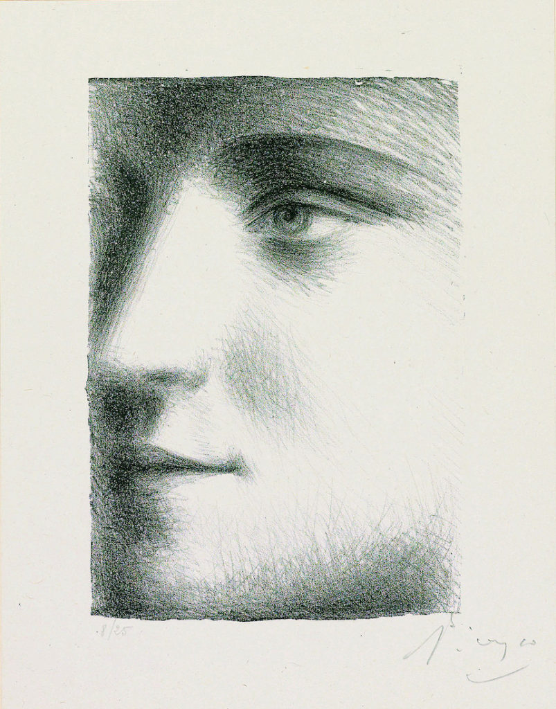 Visage (Face of Marie-Thérèse), 1928. Lithograph on chine collé; image courtesy The Clark Art Institute.