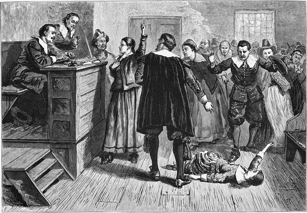 The Salem Witch Trials, by Unknown [Public domain], via Wikimedia Commons