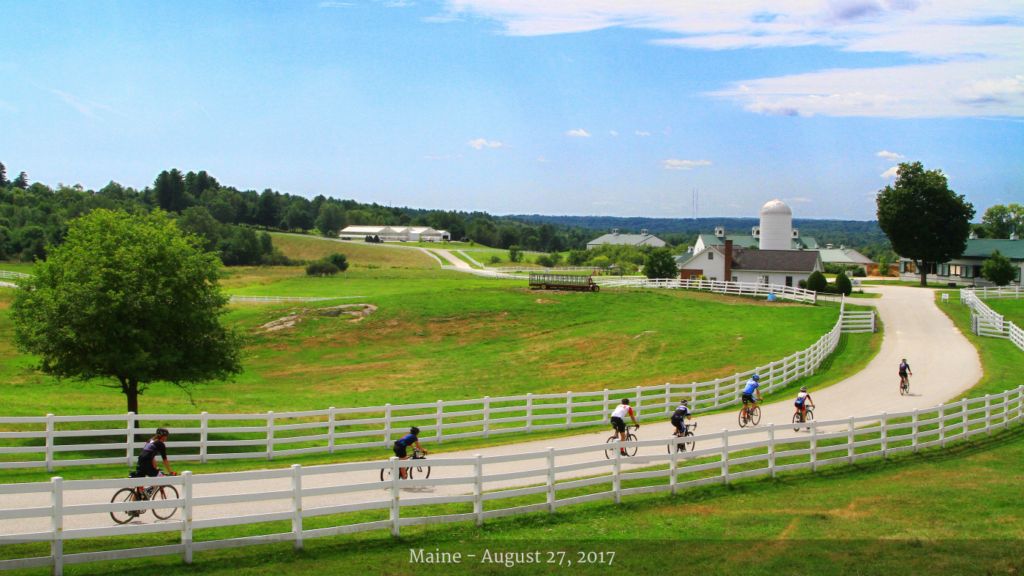 The Maine Farm to Fork Fondo took place on Sunday august 27, 2017; photo courtesy Farm to Fork Fondo.