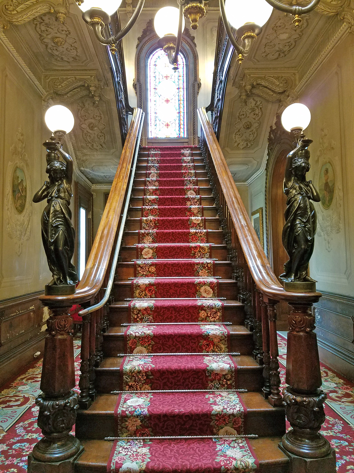 Photograph: Intricate, iconic scrollwork is evident throughout Victoria Mansion; photo by Robin Catalano.