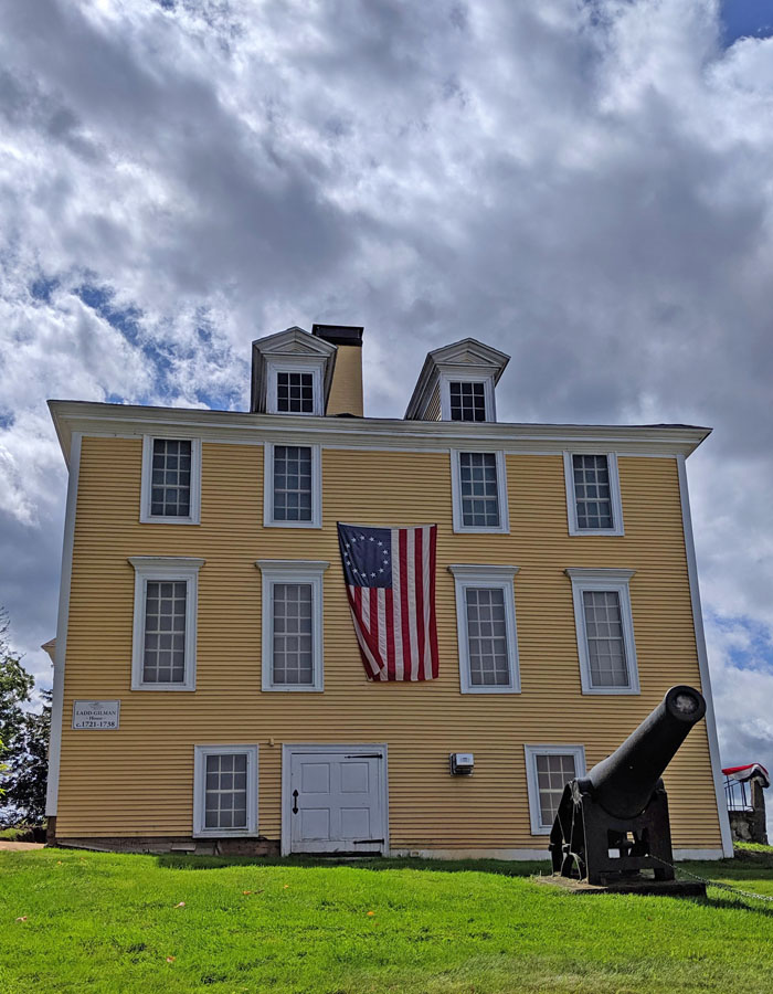 The Ladd-Gilman House, originally built in 1721, was the state treasury during the Revolution. Listed on the National Register of Historic Places, it's now a museum, and houses one of only 26 surviving copies of the Dunlap Broadside (the first reproduction copies of the Declaration of Independence) and two rare drafts of the U.S. Constitution; photo by Robin Catalano.