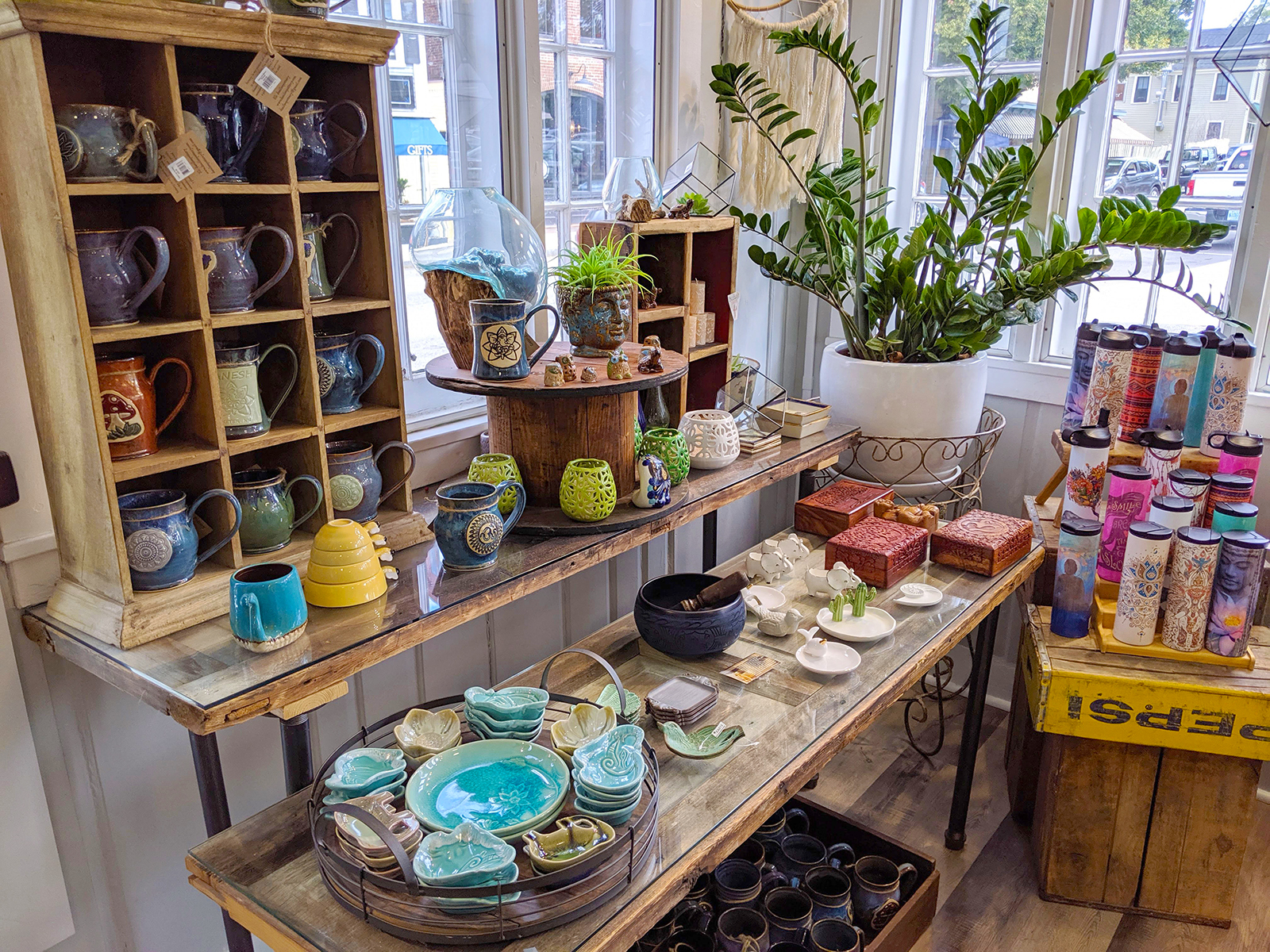 Despite its small size and walkability, downtown Exeter has a surprising number of shops. Serendipity is a great choice for housewares, gifts, and clothing; photo by Robin Catalano.