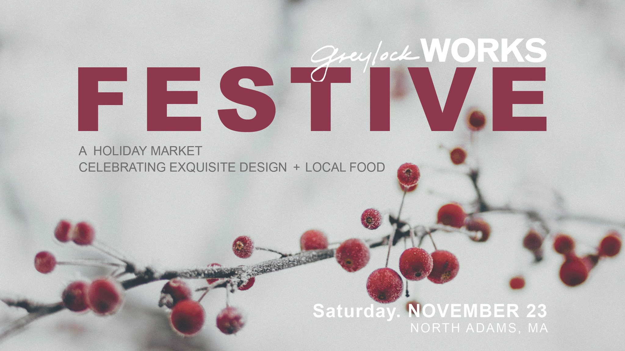 FESTIVE, a holiday market at Greylock WORKS November 23rd ></a><br>             </div><!-- .section-ad -->                                      <h2 class=