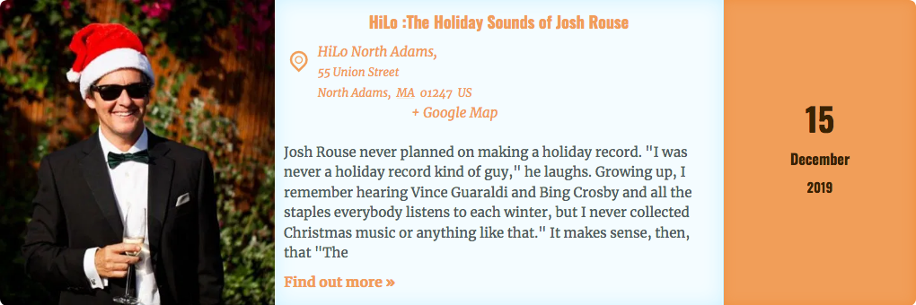 Advertisement—The Holiday Sounds of Josh Rouse